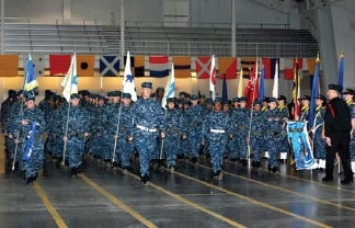 Marching is essential in helping recruits learn to work as a team and perform basic drill formations and maneuvers.